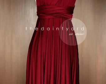 Wine Red Bridesmaid Dress Convertible Dress Infinity Dress Multiway Dress Wrap Dress Wedding Dress Evening Dress Prom Dress Cocktail Dress