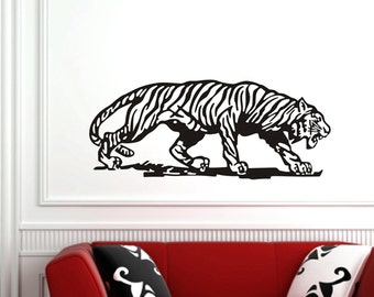 "Tiger Stalking Huge Wall Decal 40""x17"""