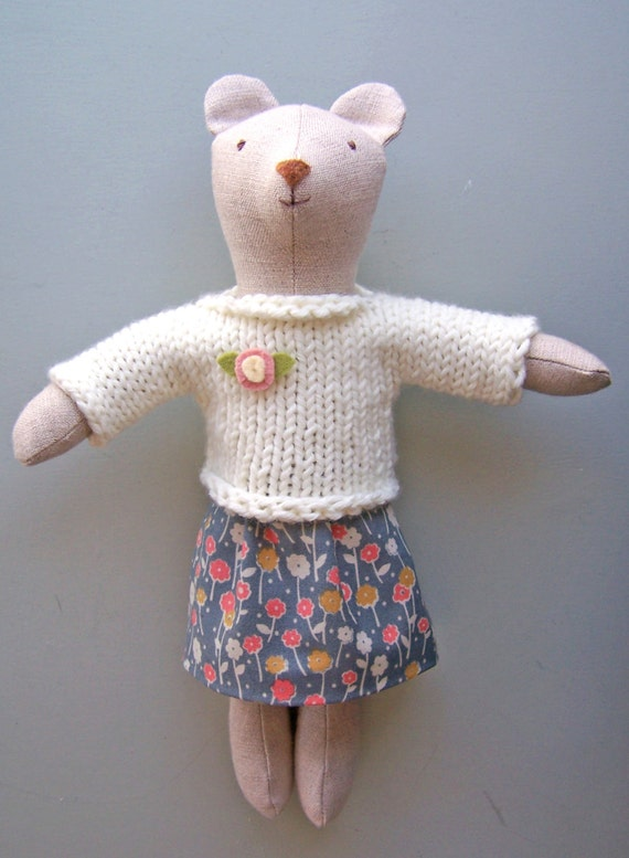 Items similar to Knit Sweater and Skirt PDF knitting and sewing pattern, simp...