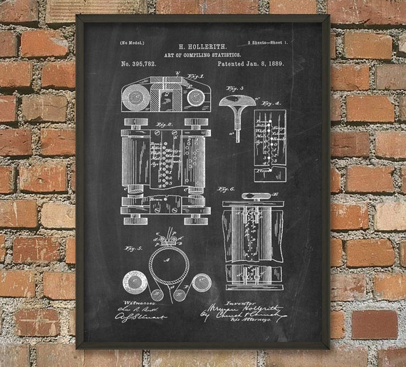Poster Weights Etsy: First Computer Patent Print Computer Wall Art Poster