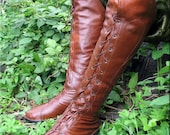 Handmade Leather Elven boots (inspired boots of Elrond) / size 7,5 / LARP equipment / style fantasy /The Lord of the Rings / Geek