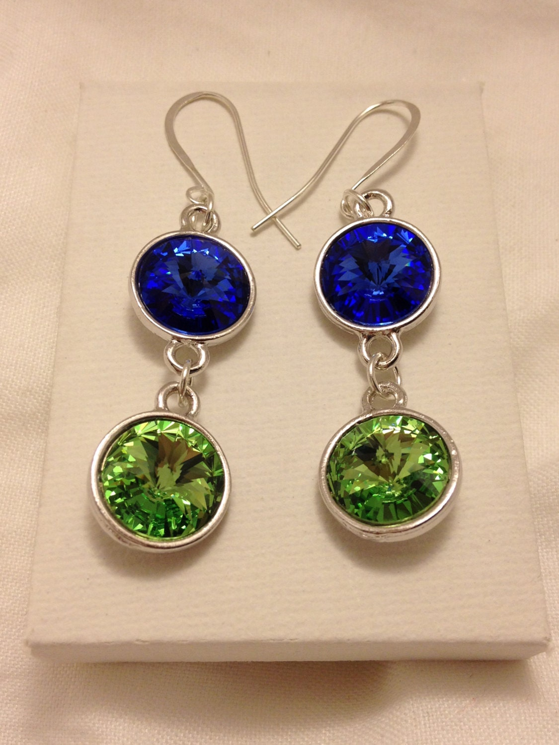 seahawks jewelry seattle seahawks swarovski earrings by annabelsatticshop 2590