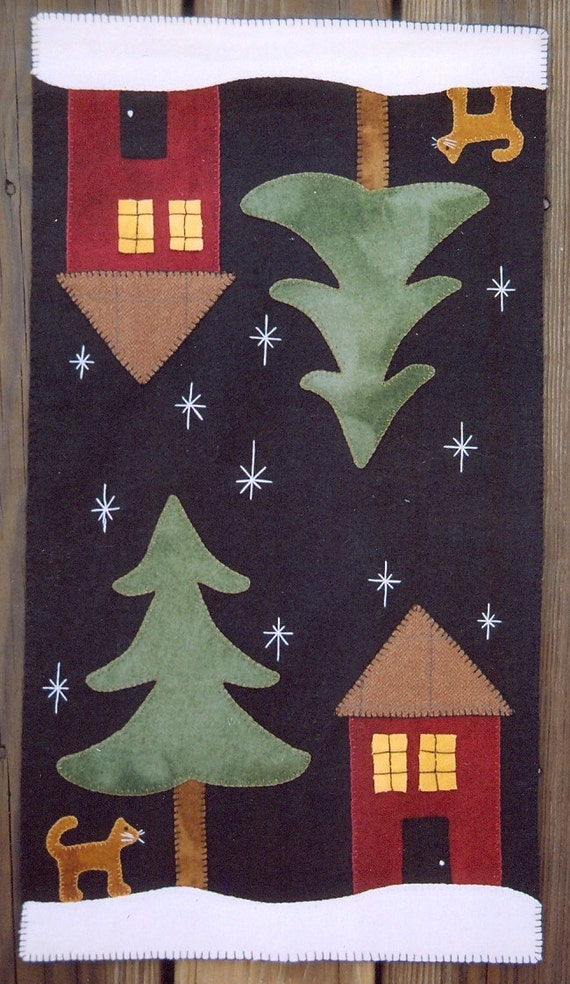 Wool penny rug e pattern home for the holidays cat under for Lakeview cabin download