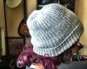 K's Custom Grey Slouchy Hipster Hat
