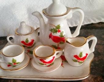 Miniature Hand Painted Tea Set