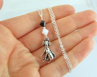 Dalmatian Necklace, Dalmatian Jewelry, Dalmatian Gift, Dog Necklace, Dog Jewelry, Dalmatian Charm, Spotted Dog, Black White Dalmatian
