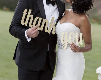 Thank You Sign,  Thank You Photo Prop, Wedding Thank You Card Photo,  Thank You Wedding Sign