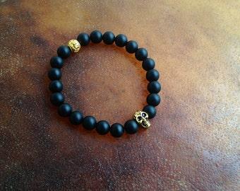 SALE Gold Skull Yoga Bracelet