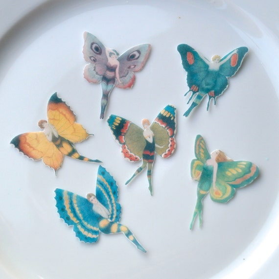 Edible Flapper Butterfly Fairies x24 Small Mixed Colours ...