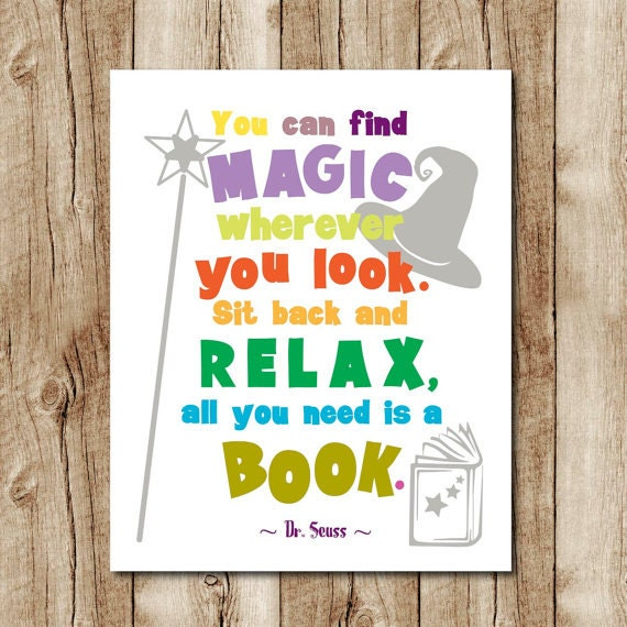 Dr Seuss Quote Print Kids Room Decor Dr Seuss Wall Art Dr