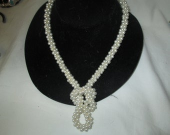 Vintage ROPE Style Multi STrand PEARL Long Necklace Many Ways To Wear!