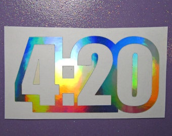 4:20 weed vinyl decal - decal for car - laptop sticker