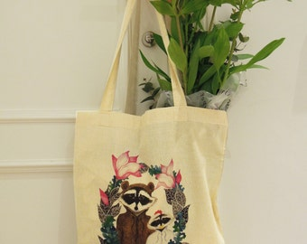 """Cotton Tote Bag """"Costume Party"""""""