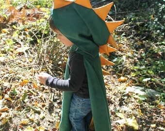 Dinosaur Hooded Kid's Cape Sewing Pattern, Toddler cape tutorial, children's sewing pattern Digital Download PDF