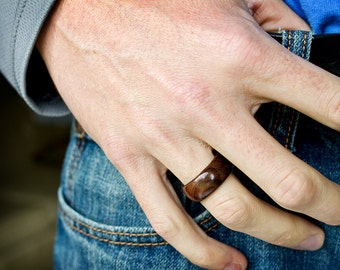 Black Walnut Wood Ring Made to Order
