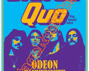 433 - STATUS QUO - London, Uk  - 15 december 1977 - artistic concert poster