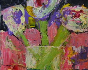 Digial PRINT. Still Life Floral Print. Fine Art Prints. Flower Painting. Art by Katie Jeanne Wood. 48