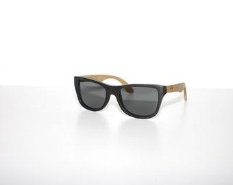 SALE  Wooden Sunglasses Oak & Ebony Shades  Wood Eyewear Polarized Man Woman by WOODEER
