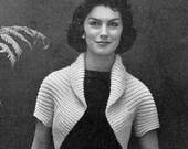 Simple Vintage Shrug 1950s Retro Top - Digital PDF e-Book