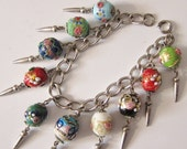 Vintage Murano Glass Charm Bracelet Wedding Cake Eggs