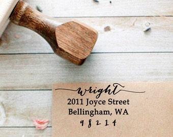 Calligraphy Address Stamp, Return Address Stamp, Personalized Address Stamp, Wedding Invitation Stamp, Custom Address Stamp