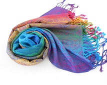 HIGH QUALITY Pashmina Scarf Ombre Rainbow Scarf Spring Fall Winter Scarf Fashion Accessories Christmas Gift For Her Mothers Day Gift For Mom