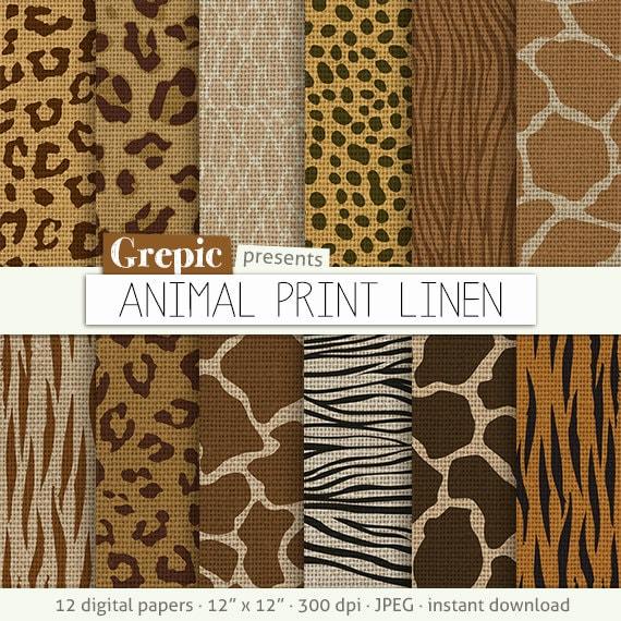 """Animal linen digital paper  """"ANIMAL PRINT LINEN"""" zebra linen ... 55ed6c9b3"""