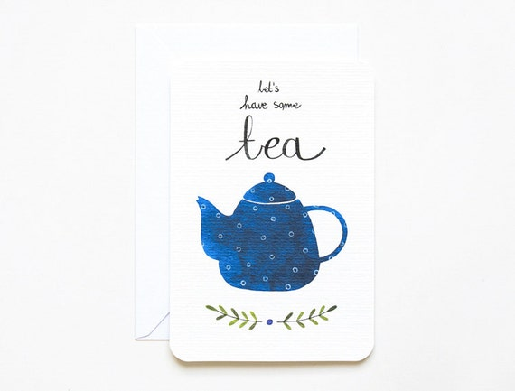 Tea Invitation Card by Mornings with Coffee