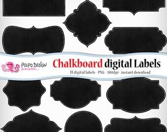 Chalkboard digital labels clip art. Commercial & personal Use. Instant Download. PNG transparent background clipart frames border label tag