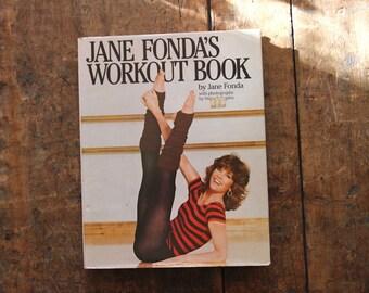1981 JANE FONDA'S Workout Book, by Jane Fonda, Hardcover