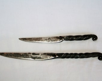 Hand Forged Letter Opener with Twisted Handle.