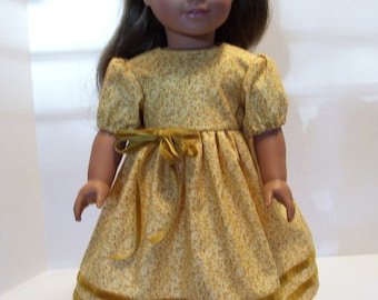 "Cotton Doll Dress and Matching Headband for American Girl Doll and other 18"" Dolls"
