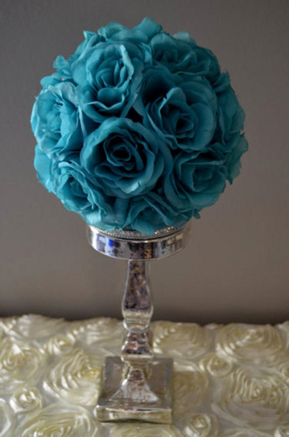 Teal / Jade flower balls WEDDING CENTERPIECE wedding