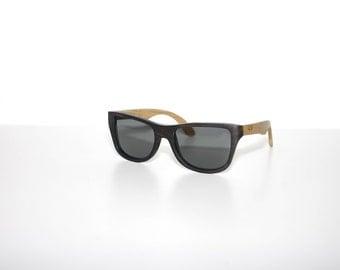Wooden Sunglasses Oak & Ebony Shades  Wood Eyewear Polarized Man Woman by WOODEER