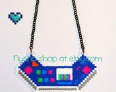 Arcade Sona necklace Ethwal League of Legends handmade pixel art hama beads