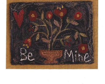 DeCuyper Trading - Stone and Thread -  Be Mine - Valentine - Punchneedle Embroidery Pattern