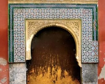 Moorish Door - Digital Photography, Door Photography, Spanish Architecture Photography, Spain Door, Cordoba Door, Bohemian Door, Arabic Door