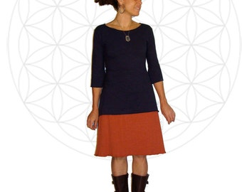 Organic Skirts - Organic cotton and Hemp Terry Cloth  Skirt handmade and hand dyed - Hemp Skirts