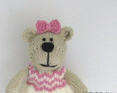 Toddler Toy - Hand Knit Bear Toy - Stuffed Bear Toy - Child Toy - Kids Stuffed Animal - Knit Toy - Stuff Toy - Baby Gift - Small Toy Stella