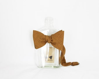 Ryo - Camel Brown Men's Pre-Tied Bow Tie Or Self-Tied Bow Tie