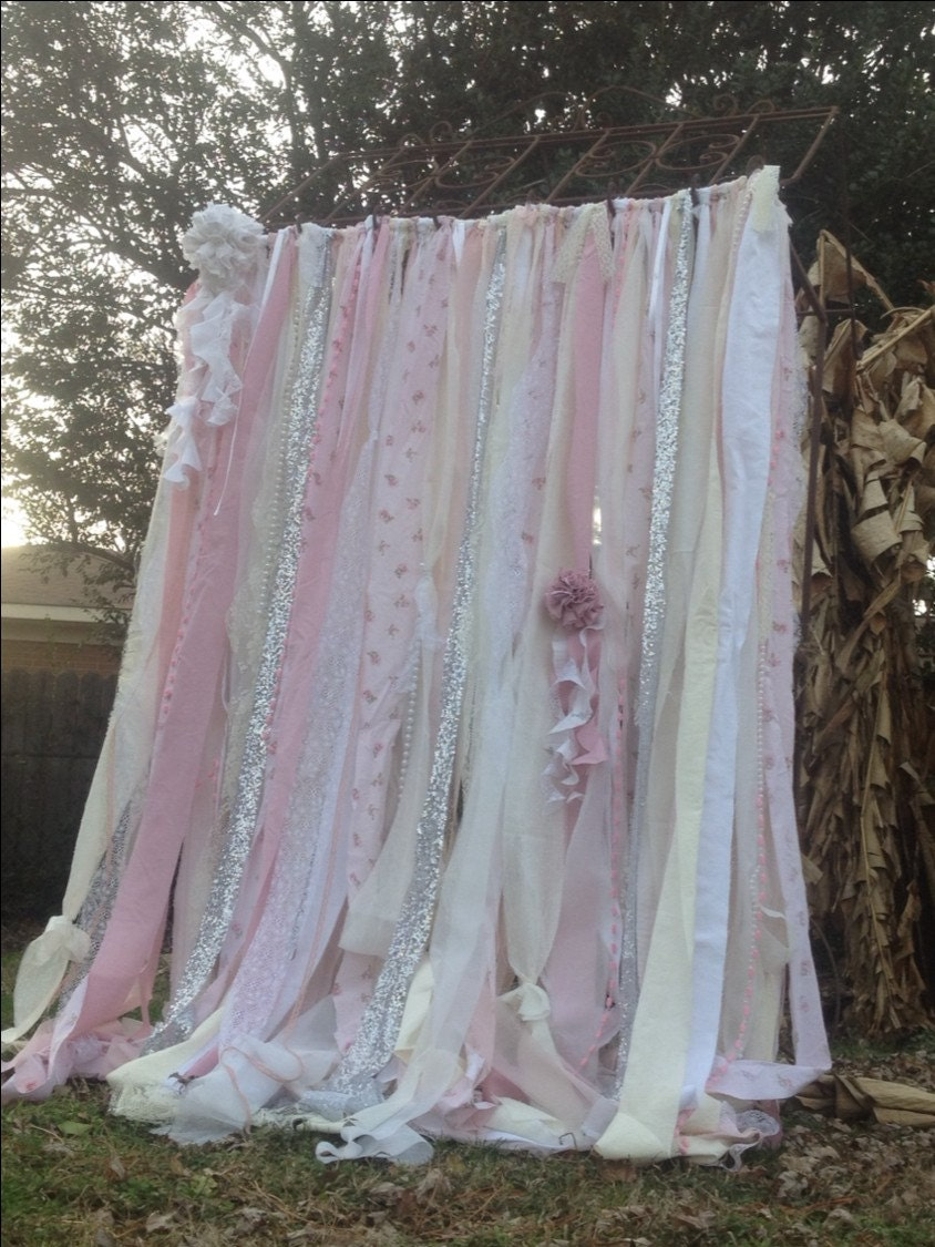 Shabby Chic Curtains Vintage Rachel Ashwell By ChangesByNeci