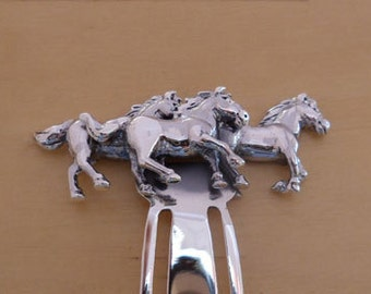 925 Solid Sterling Silver Horse BOOKMARK