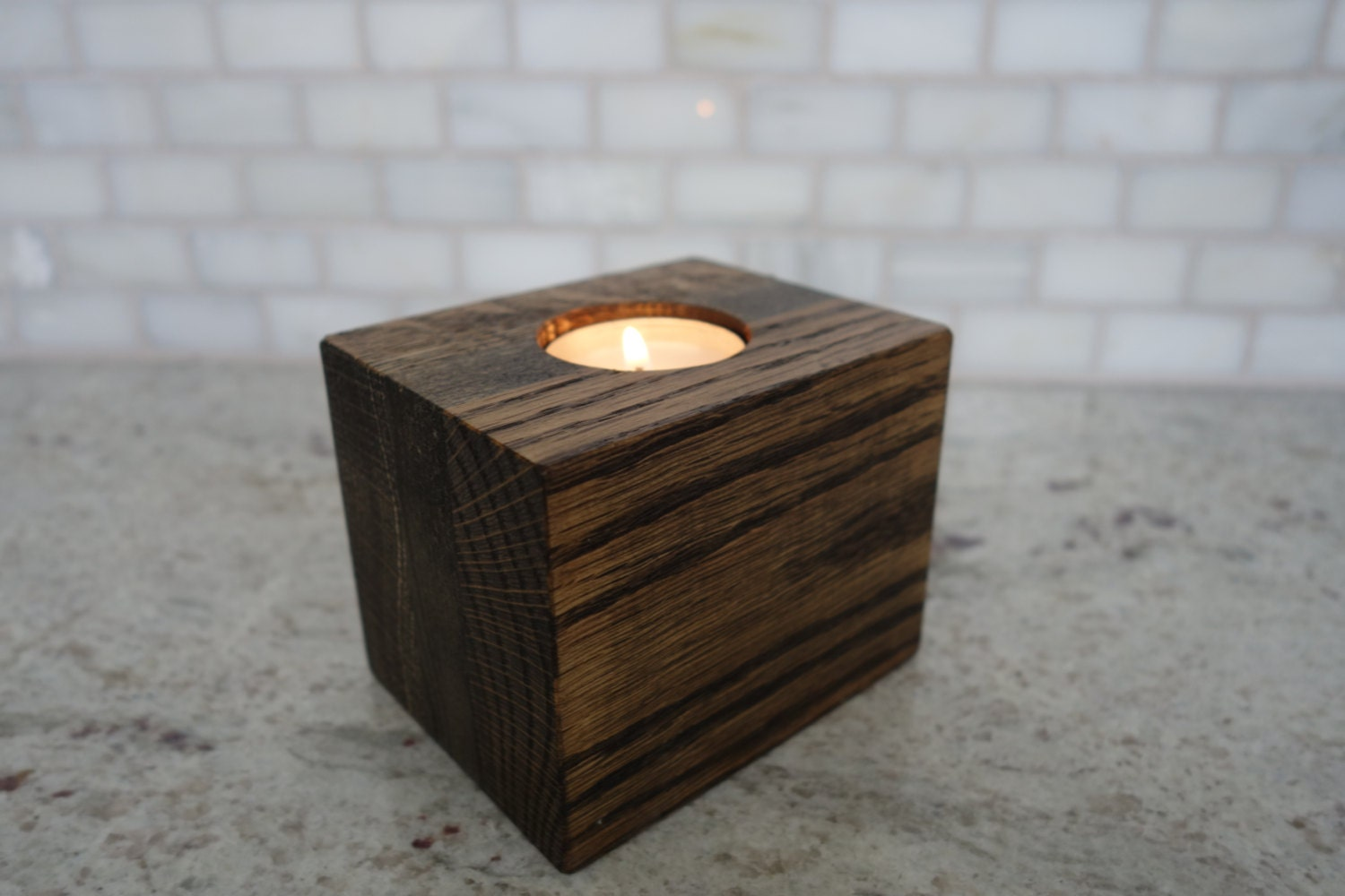 Handmade Wood Tea Light Candle Holder Votive Holder Tealight