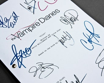 The Vampire Diaries TV Script with Signatures/Autographs Reprint