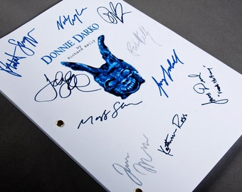 Donnie Darko Film Movie Script with Signatures / Autographs Reprint Unique Gift Christmas Xmas Present TV Fan Geek Cult 90s Horror