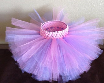 Pink and Purple Tutu, Baby Tutu, Birthday Tutu, Toddler Tutu, 1st Birthday Tutu, Infant Tutu, Newborn Tutu, Pink Tutu, READY TO SHIP