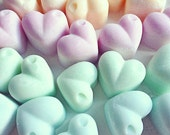 Pastel heart-shaped wax melts - choice of scents - for oil burners - Highly scented!