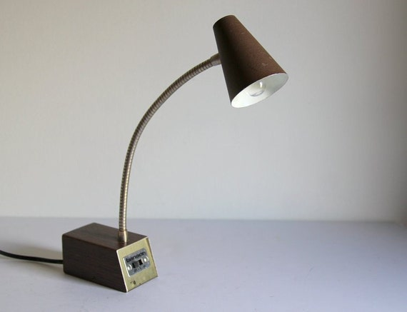 Vintage Arch Desk Lamp Brown Metal By Tensor By