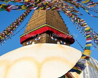 Bodhnath stupa, Kathmandu, Nepal, 2014