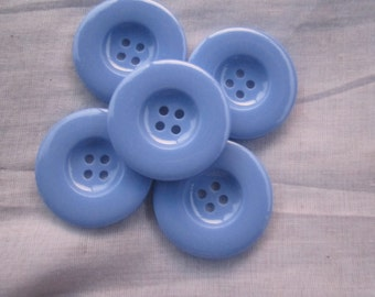 5 Unique extra large blue buttons/ 4.5cm/ 1.77 inches/ 45 mm